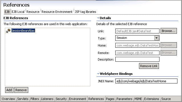 USING RESOURCE REFERENCING