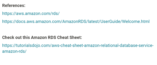 amazon aws certification references